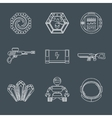 Space game icons vector image