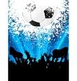 soccer fans vector image vector image