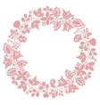 Pastel laurel wreath decorative frame on white vector image vector image
