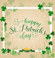 Saint Patricks Day Typographical Vintage vector image