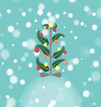 Decorated Christmas Tree in the Snowfall vector image