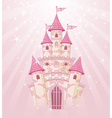 Fairy tale princess castle vector image