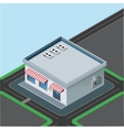 isometric little shop vector image