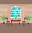 loft interior design living room with brick wall vector image