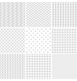 monochrome geometric patterns vector image