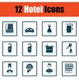 Set of twelve hotel icons vector image