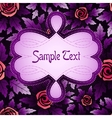 Greeting card with rose seamless pattern and vector image