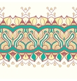 Horizontal seamless floral background vector image
