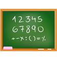 chalkboard numbers vector image