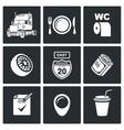 Work truckers Icon Set vector image