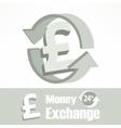 Pound symbol in grey vector image vector image
