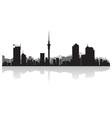 Auckland city skyline silhouette vector image