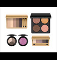 eye shadow set realistic vector image
