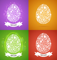 four easter egg card of objects vector image