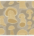 Seamless pattern with cep mushroom vector image