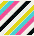 retro colors diagonal lines background pop-art vector image