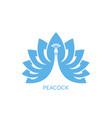 peacock logo vector image vector image