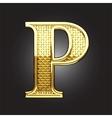 golden figure vector image