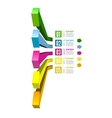 Infographic options with color arrow vector image vector image