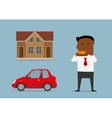 Manager bought car and house by credit card vector image