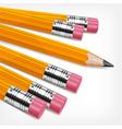Wooden sharp pencils vector image vector image