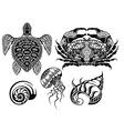 Crustacean vector image