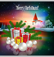 Abstract Christmas with silhouette of castle and vector image