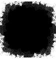 black christmas frame vector image