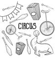 Circus performance decorative icons set vector image