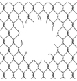 Fence chain with hole vector image