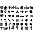 ICONS PC BLACK vector image