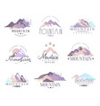 mountain original logo design since 1965 year vector image