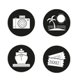 Travelling icons vector image