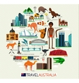 Australia Travel Set vector image