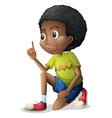 A cute Black kid vector image vector image