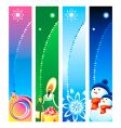 Christmas banner backgrounds vector image vector image