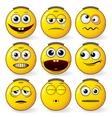 fun smileys vector image