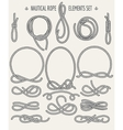 Nautical Rope Elements Set vector image