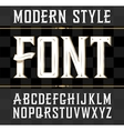 label font modern style Whiskey label vector image