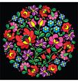 Kalocsai folk art embroidery - Hungarian vector image