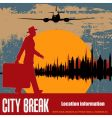 city break vector image vector image