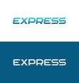 Express word logo vector image
