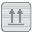 Fragile symbol arrow up logistic icon vector image