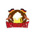 Oktoberfest logo Beer Festival in Germany vector image
