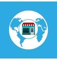 online market buying global graphic vector image