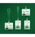 id card woman green vector image