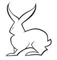 Black and white hare vector image