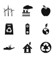 Environment icons set simple style vector image