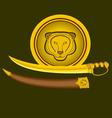 tiger-sword-shield vector image