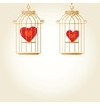 Heart in cage - vector image vector image